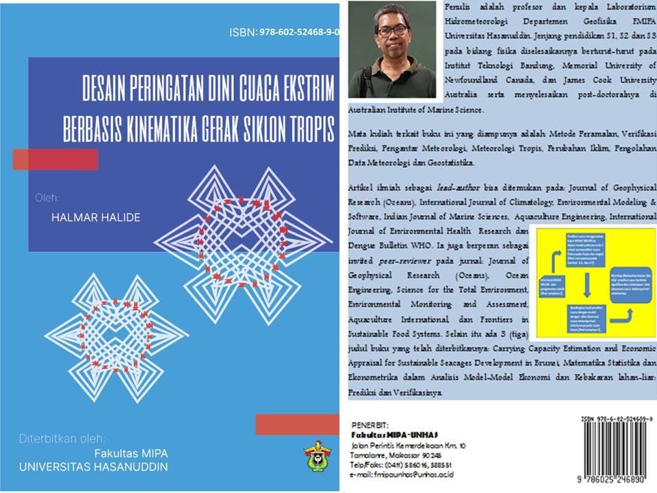 Desain Peringatan Dini Cuaca Ekstrim Berbasis Kinematika Gerak Siklon Tropis, Buku Terbaru Prof. Halmar Halide